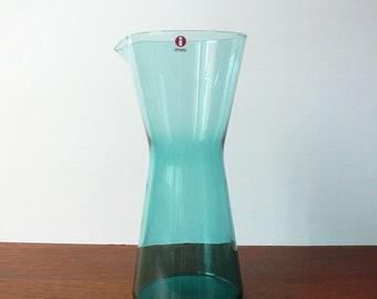 IIttala Kartio Pitcher 0,95 Liter Sea Blue Kaj Franck Glass