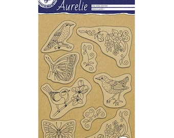 Garden botanical 1 stamp Clear_PGAUCS1001