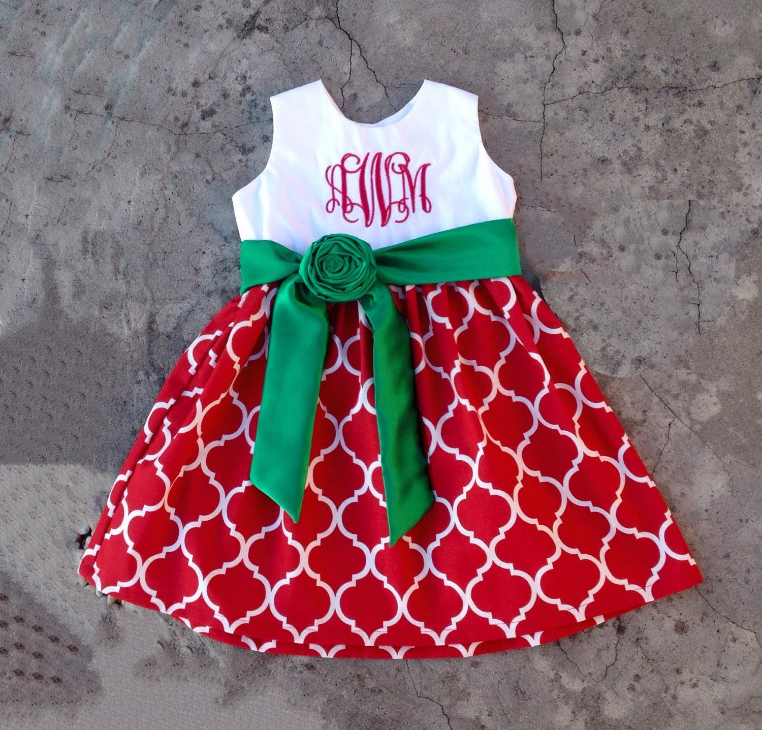 Girls christmas dress baby girl christmas outfits Red and