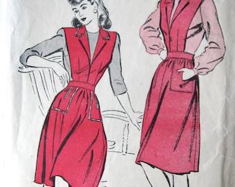 Vintage 1940s UNUSED Miss Jumper Dress Sewing Pattern Advance 3427 Bust 33 Hip 36