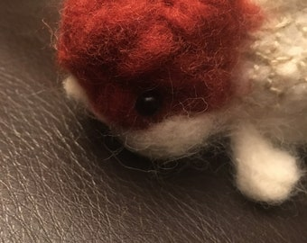 Needle felted red cap oranda