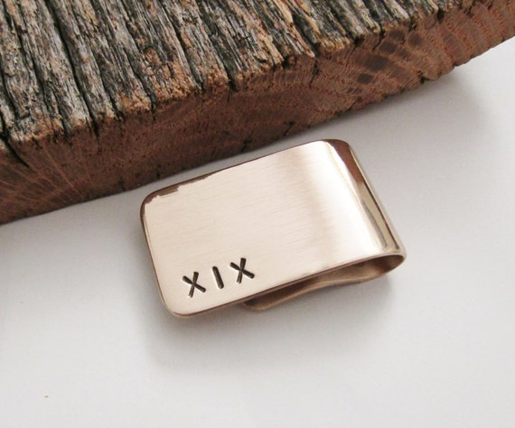 Gift For 19th Wedding Anniversary: 19th Anniversary Gift For Husband Money Clip Year 19
