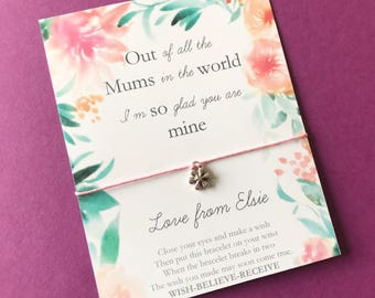 Mothers Day Wish Bracelet - Personalised