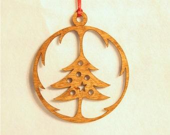 Wooden Christmas Globe Ornament