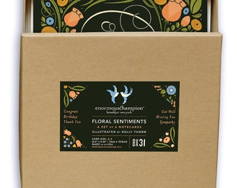 Floral Sentiments- a card for every important occasion! A boxed set of 6 cards.
