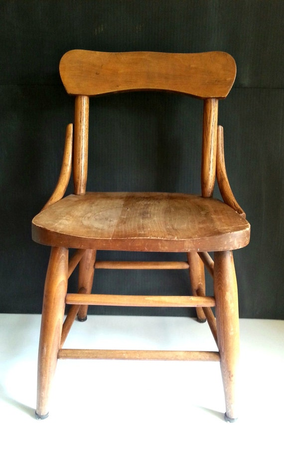 sc 1 st  Etsy & Antique kids chairBentwood style chair style Child chair