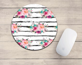 FLORAL Mouse pad/mousepad/watercolor floral/desk decor/girly mouse pad/mouse pad