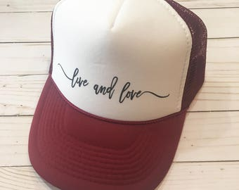 Adult Live and Love hat