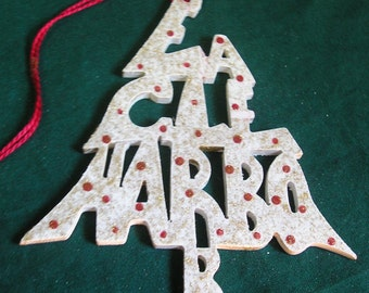 Eagle Harbor, handcrafted tree shaped ornament