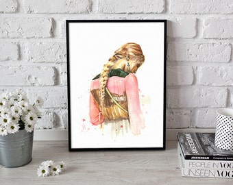 Valentino fashion print, wall art, pastel colors - 3 sizes available Giclee print