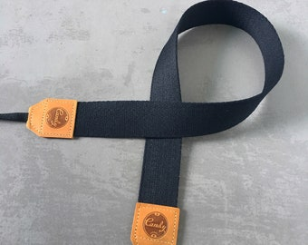 Black camera strap, Camera Strap, leather camera Strap ,Gift for her