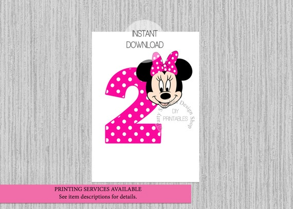 Hot pink minnie mouse 2nd birthday iron on instant for Free download t shirt design software full version