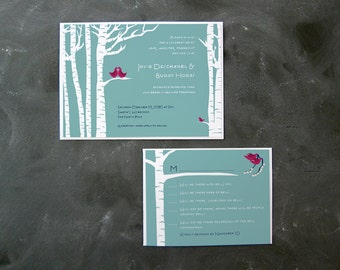 Jovie and Buddy - Invitation and RSVP