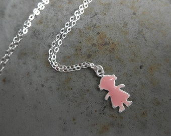 Little girl charm chain necklace