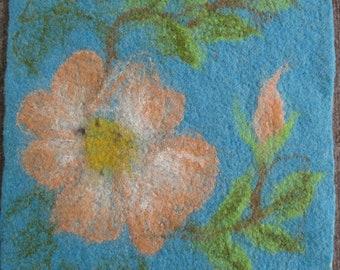 My beautiful garden-seat pads made of felt, handmade, set of 4