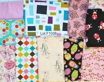 Girls Mix Fabric DESTASH LOT F1038 First 2 Images only