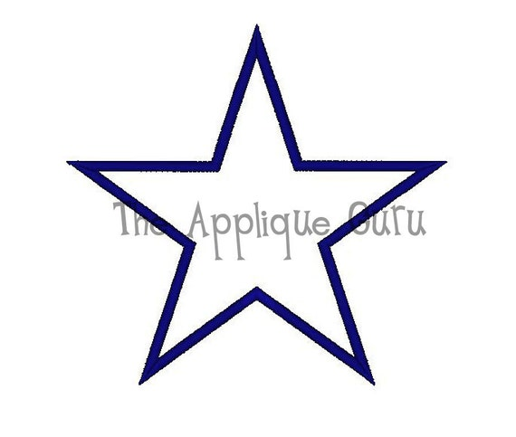 Simple Star Applique Machine Embroidery Design