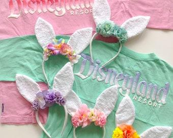 Bunny Ears | Easter Ears | Lace Bunny Ears | Floral Bunny Ears | Floral Crown