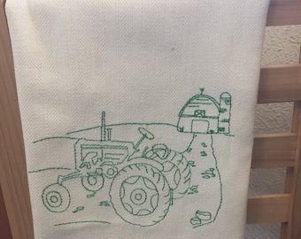 Tractor Tea Towel