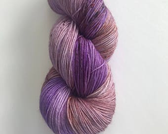 Lavender - Sock Yarn - 75/25, superwash merino & nylon, hand dyed