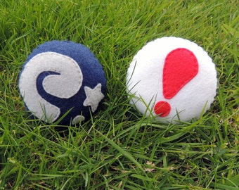 Felt Animal Crossing Fossil and Pitfall Seed Plush Ornaments