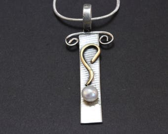 Sterling Silver Pendant with Pearl (021618-002)