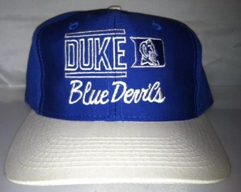 Vintage Duke Blue Devils Snapback hat cap rare 90s NCAA College basketball og grant hill