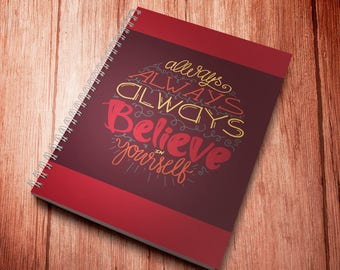 Believe In Yourself. Motivational Quote For Happy Life. Inspirational Background, Art, Inspire Clipart, Vector Digital Image