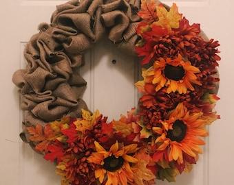 Sunflower Fall Wreath!
