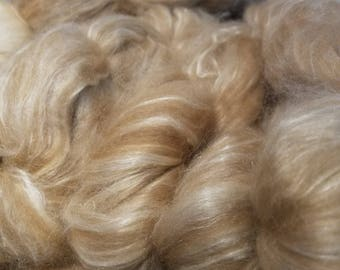 CRAZY Baby Camel and  Silk 50 50 blend combed top spinning fiber Golden Glow