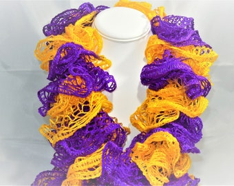 Purple and Gold Scarf, Purple Scarf, Gold Scarf, Winter Scarf, Fashion Scarf, Gift for Her, Women's Fashion, Winter Fashion