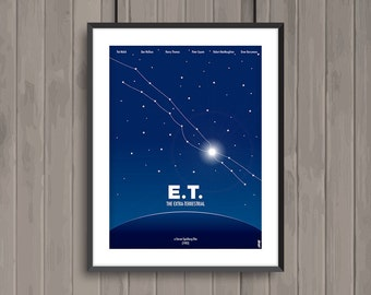 E.T. the Extra-Terrestrial, minimalist movie poster