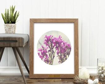 flower print, digital print, purple flowers, purple decor, flower artwork, photography, printable, garden, girls room prints, nursery art