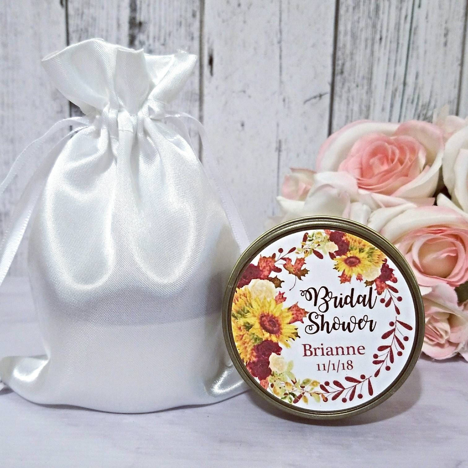 12 Fall Bridal Shower favors - Bridal Shower Candle Favors - Fall ...