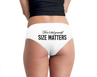 Size Matters Women's Boyshort Underwear