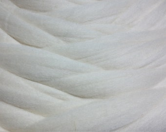SALE Shep's Merino Wool top Roving 19 microns, Milk White Ultra SOFT , Spinner's Delight! Spin, Felt, Knit, Weave!!