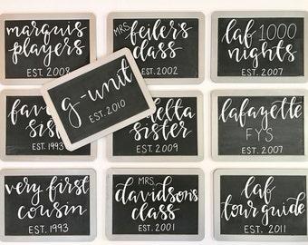 Bridesmaid Chalkboard Signs I Wedding Decor I Bridesmaid Gift l Photo Decor