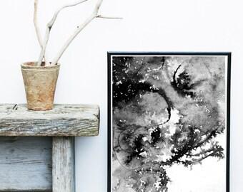 Abstract Art Print, Watercolor, Giclee print, Scandinavian Art, Minimalist Poster, Abstract Wall Art, Wall Decor, Art Print