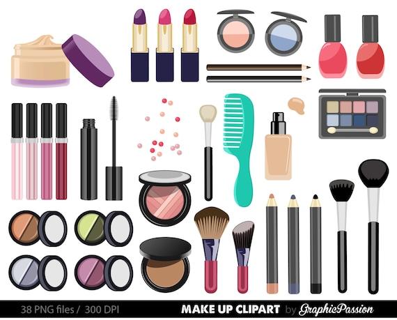 make up collection digital clipart beauty clipart cosmetic clipart rh etsystudio com makeup clip art cosmetics makeup clip art images