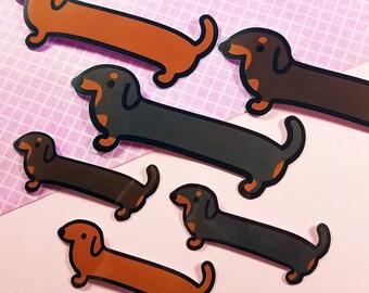 Dachshund stickers planner vinyl sticker weiner dog matte weenie dog sausage wiener hotdog hot dog scrapbooking cute animal doxie kawaii