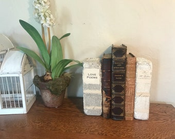 Brick Books, Mothers Day Gift, Book Statues, Book Ends, Book Lover Gift, Personalized Mothers Day Saying, Gift For Mom, Rustic Decor