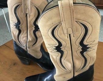 Vintage Frye 2 tone western boots