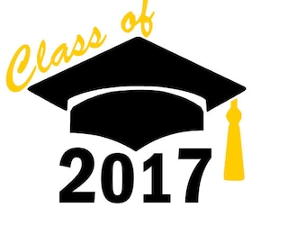 Class of 2017 Decal, Yeti Decal, Decal, Graduation stickers
