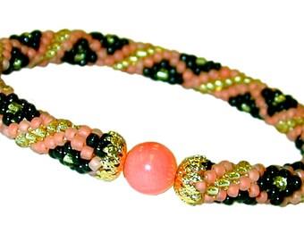 50 OFF Coral Snake Bead Crochet Bracelet kit by Ann Benson