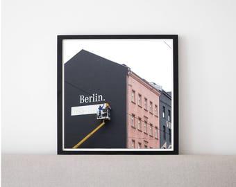 Berlin // Poster, Photography, Street, Skyline, Urban, City, Image, Picture, Square, Print, Wall Decor, Home Decor, Mood, Unique, Cityscape