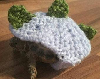 Dinosaur tortoise cosy, pet photo prop, pet costume, tortoise costume, fancy dress, halloween costume, photography, prehistoric dino knit