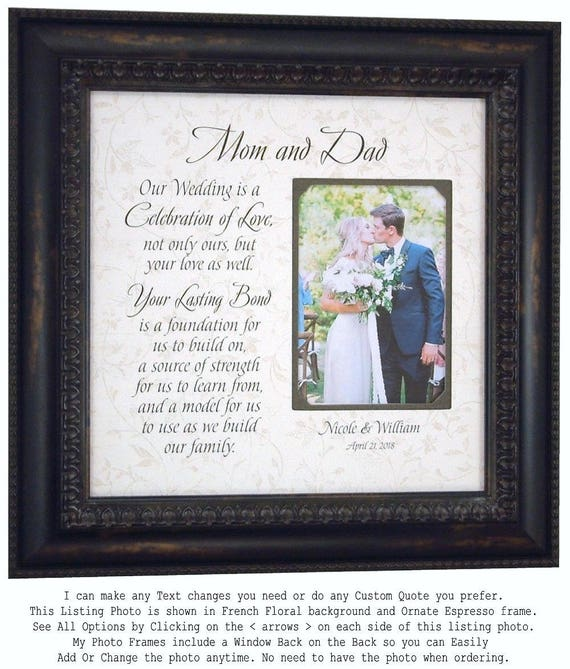 Father of the Bride Gift Personalized Wedding Frame Parents