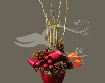 Cristmas Arrangements with preserved plants