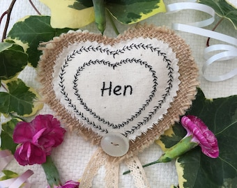 Pretty Hen Party badge.