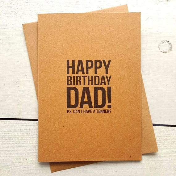 Funny birthday card dad birthday card dad card handmade like this item m4hsunfo Images